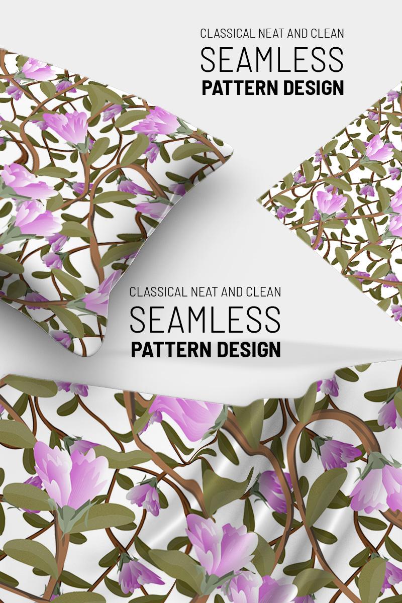 """Awesom floral repeat design"" pattern  #91259"