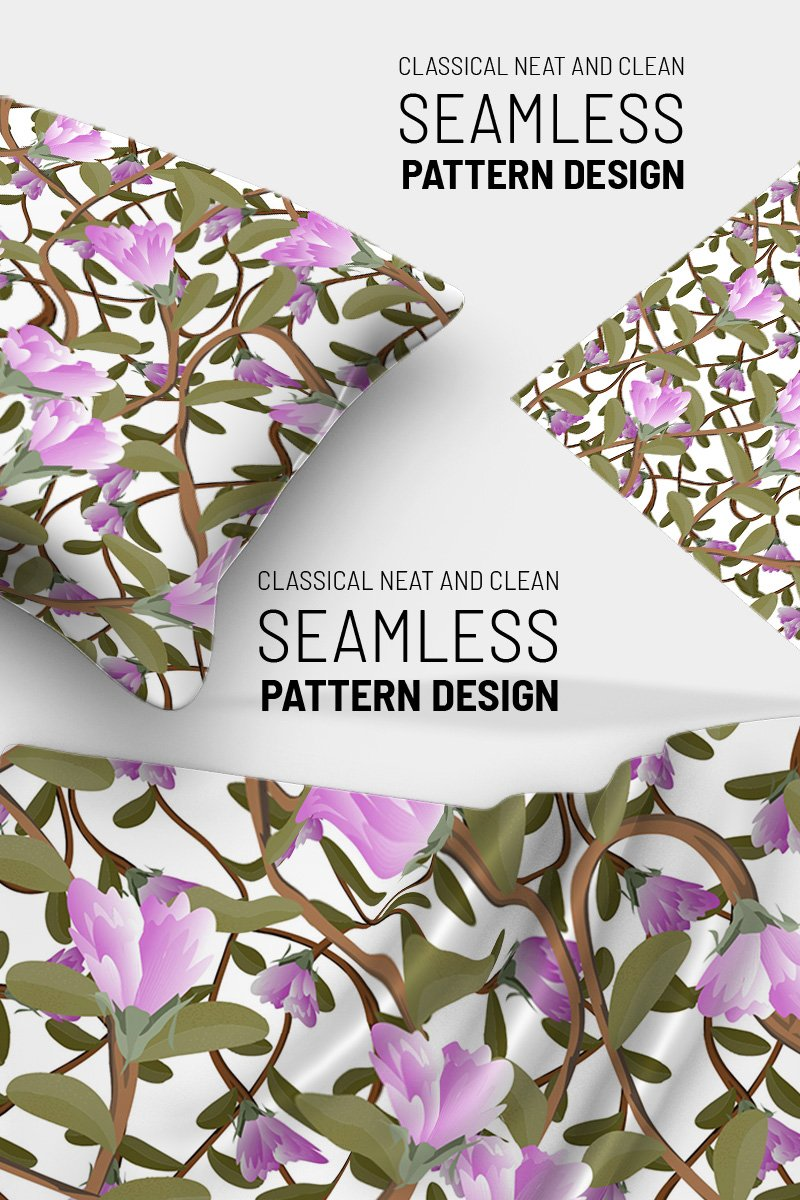 Awesom floral repeat design Pattern #91259