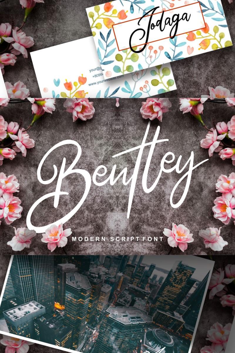 """Bentley | Modern Script"" police de caractère  #91228"