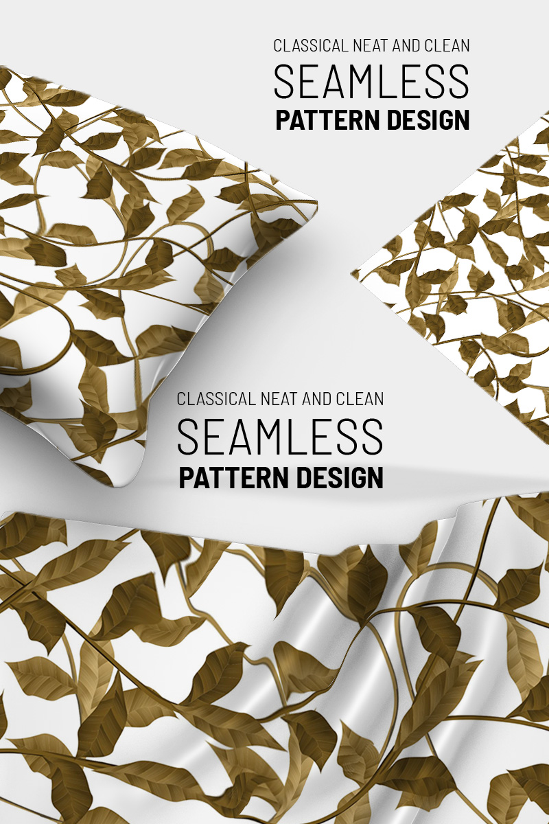 """Botanical beautiful abstract seamless"" pattern  #91262"