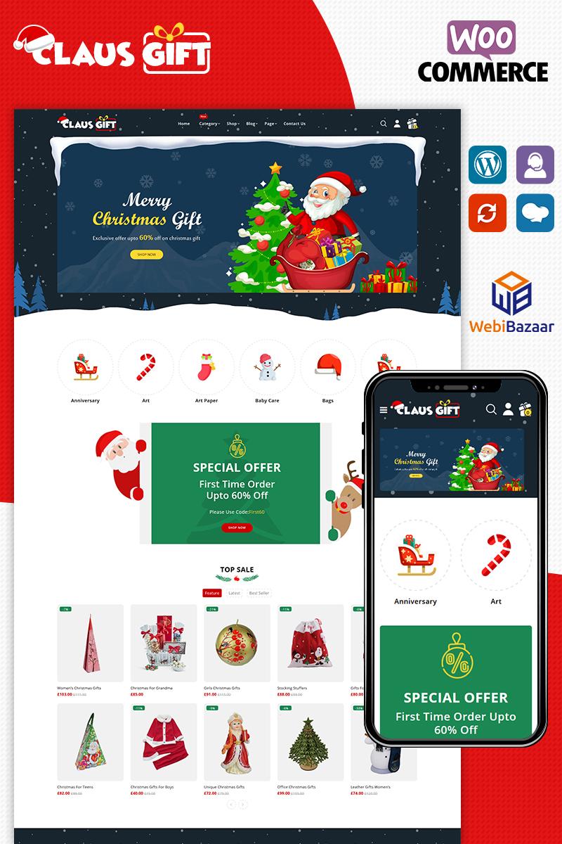 Clausgift Christmas Responsive Tema WooCommerce №91275
