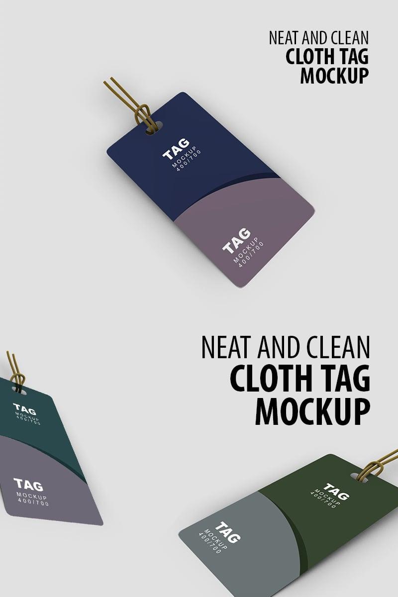 Cloth Tag Product Mockup 91245