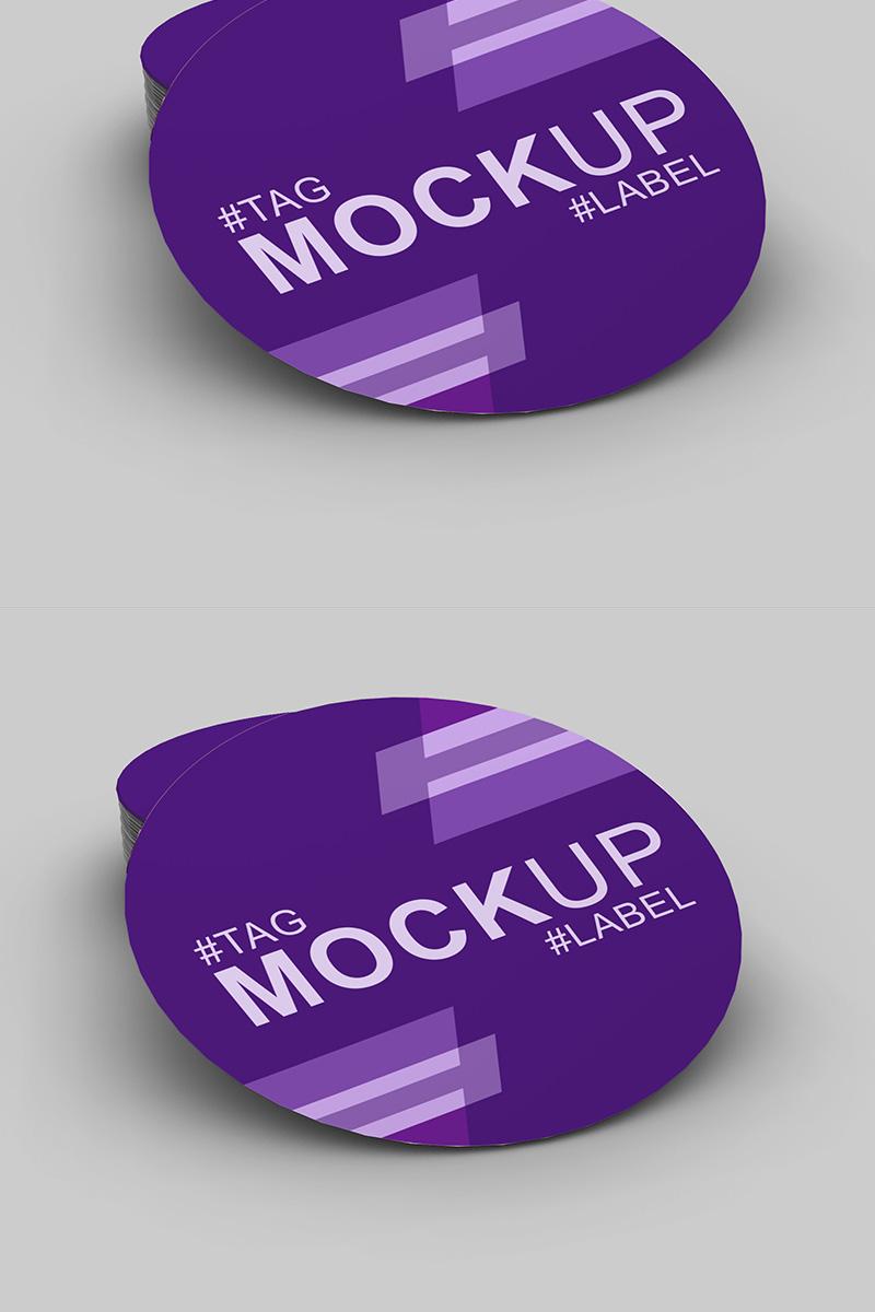 Elegant Beautiful Round Label Mockup de Produto №91246