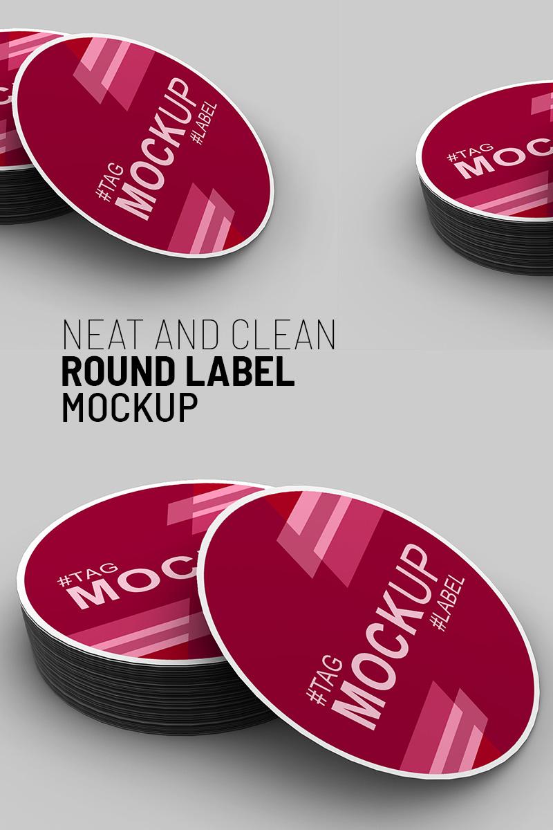 Elegant round label Product Mockup 91244