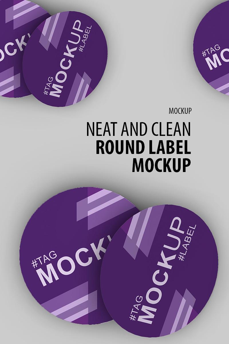 """Fresh and clean round label"" - Мокап продукту №91243"