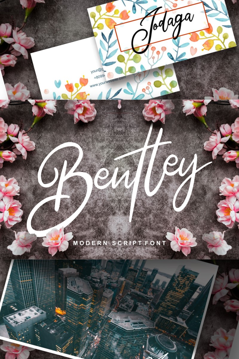 "Fuente ""Bentley   Modern Script"" #91228"