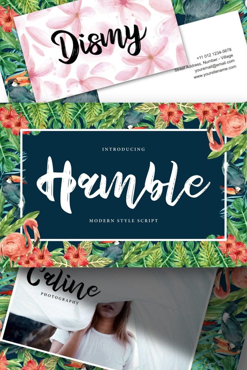 Hamble | Modern Style Script Font #91225