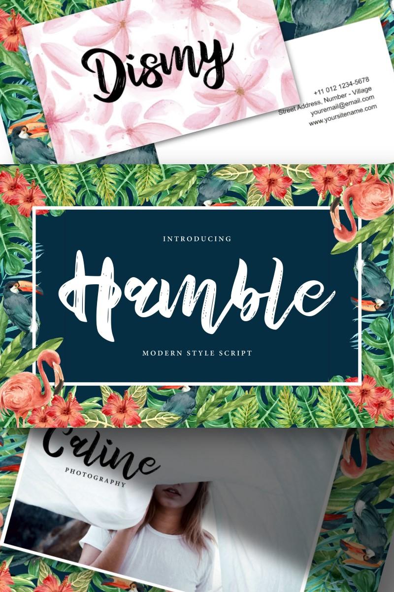 """Hamble | Modern Style Script"" police de caractère  #91225"