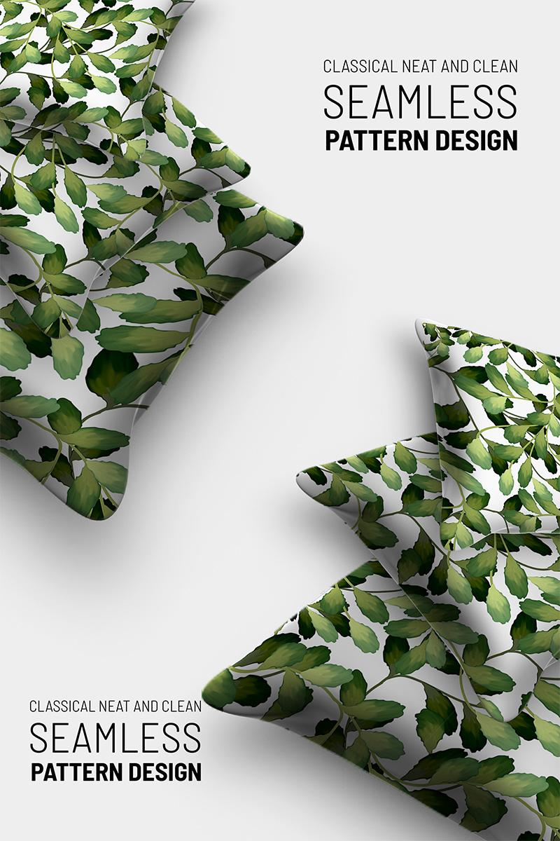 Hand drawn beautiful floral seamless design Pattern №91250