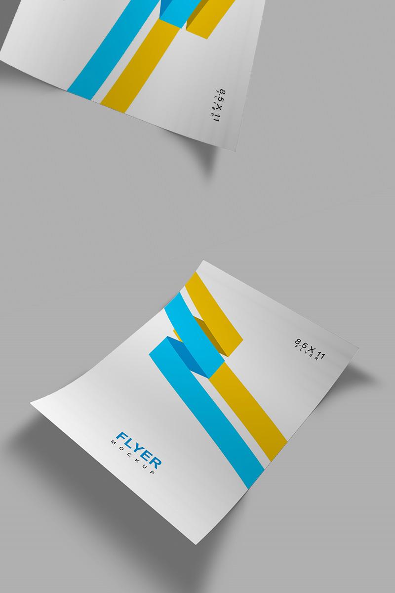 Letter Size Flyer Mockup de Produto №91247