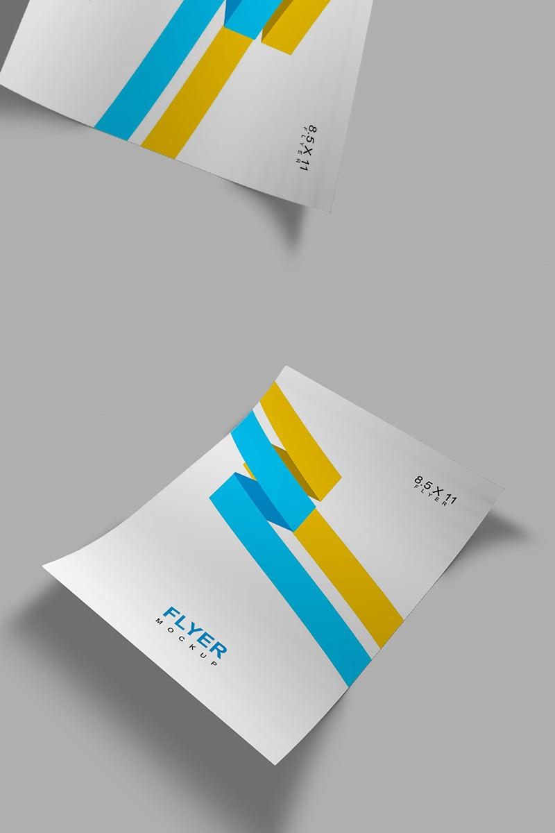 Letter Size Flyer Product Mockup 91247