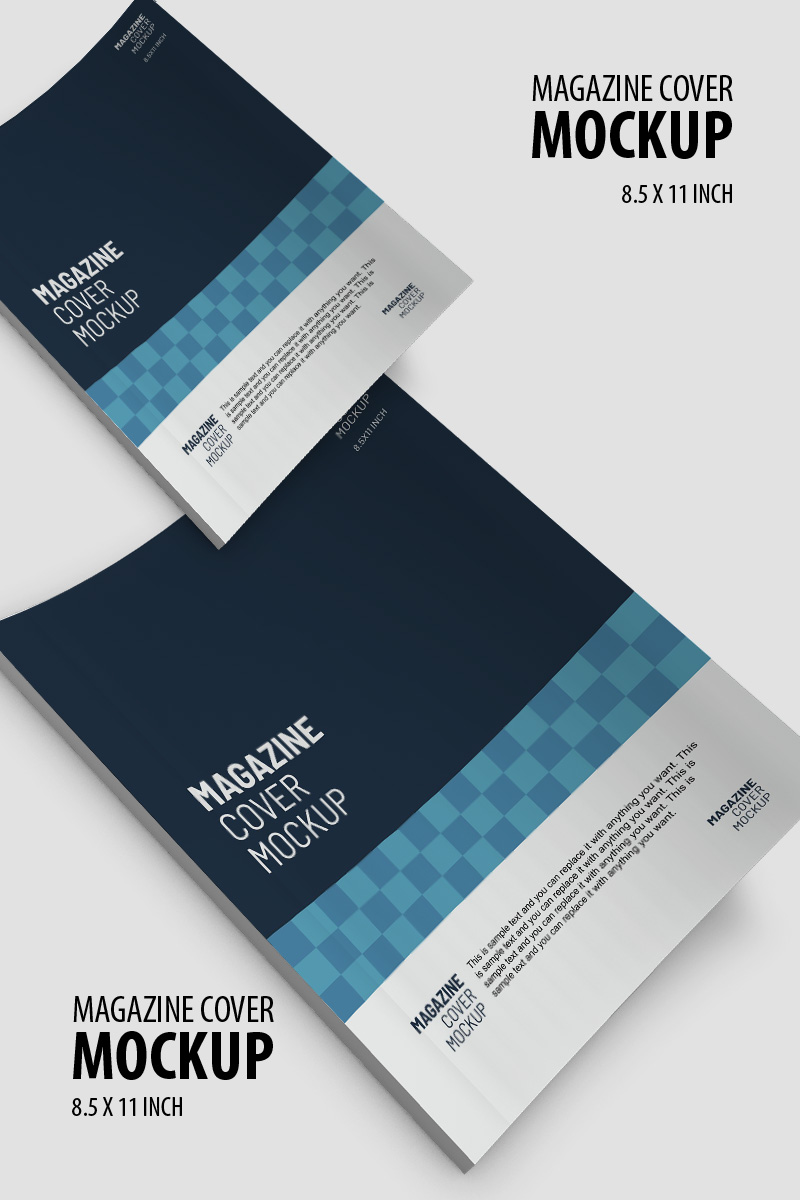 Magaine booklet cover design Product Mockup
