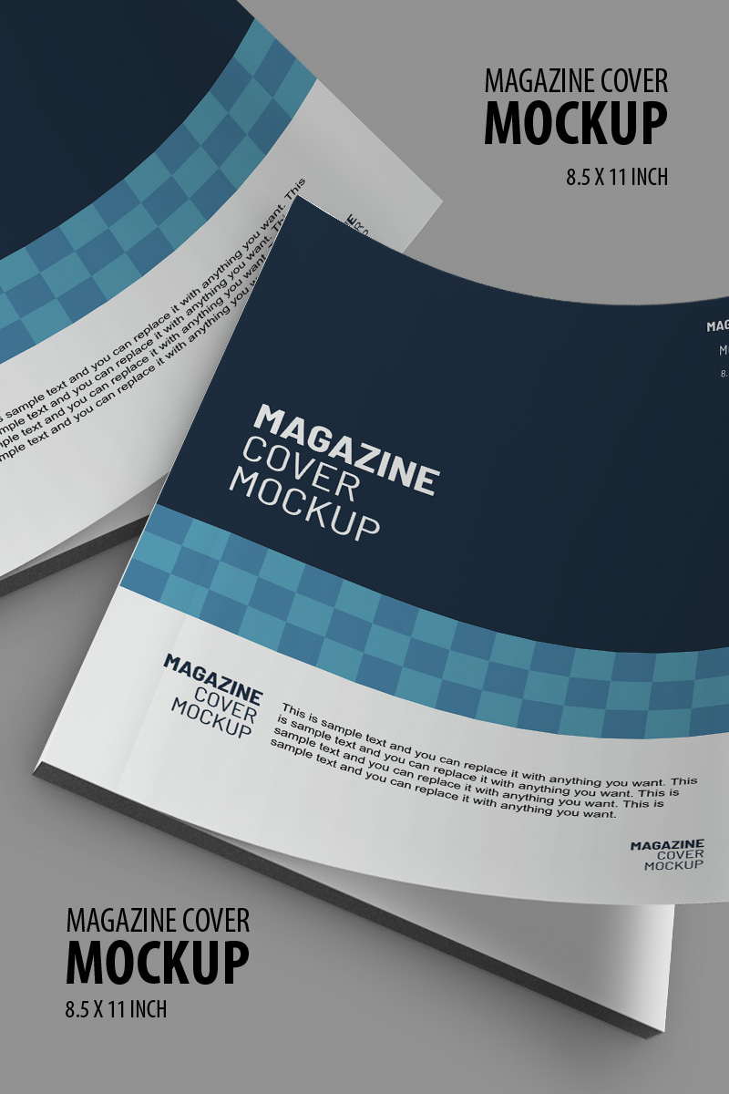 Magazine cover Product Mockup