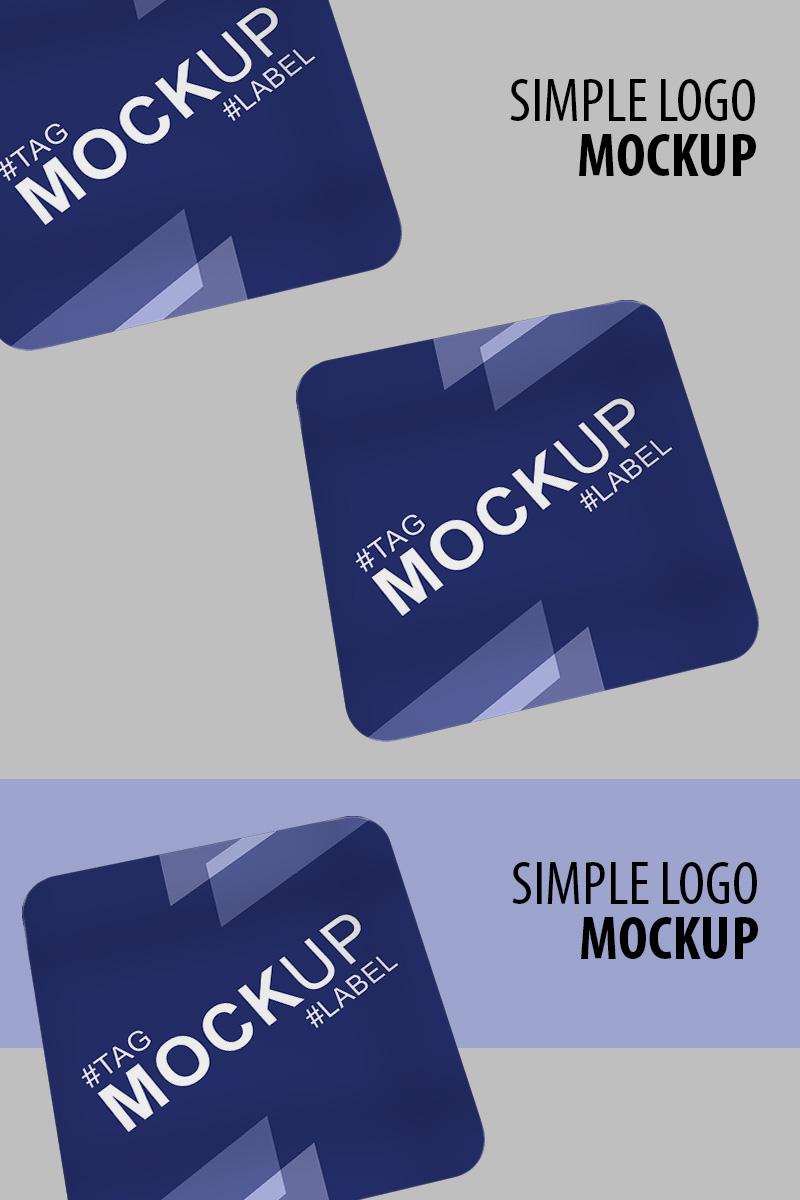 "Maketa produktu ""Beautiful presentation of square card"" #91242"