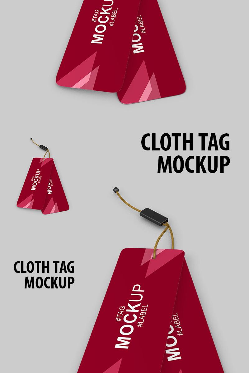 "Maketa produktu ""Cloth tag and label"" #91238"