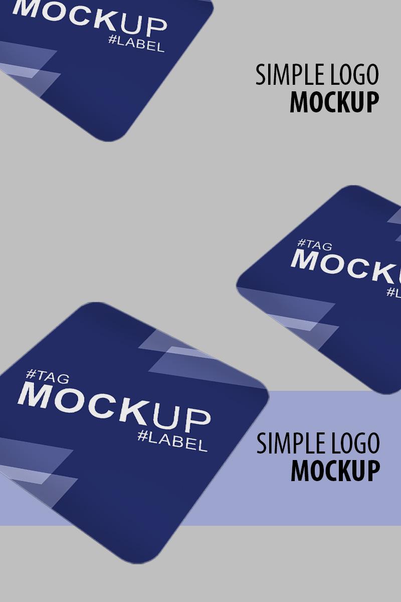 """Maketa produktu """"Round label perspective view"""" #91241"""