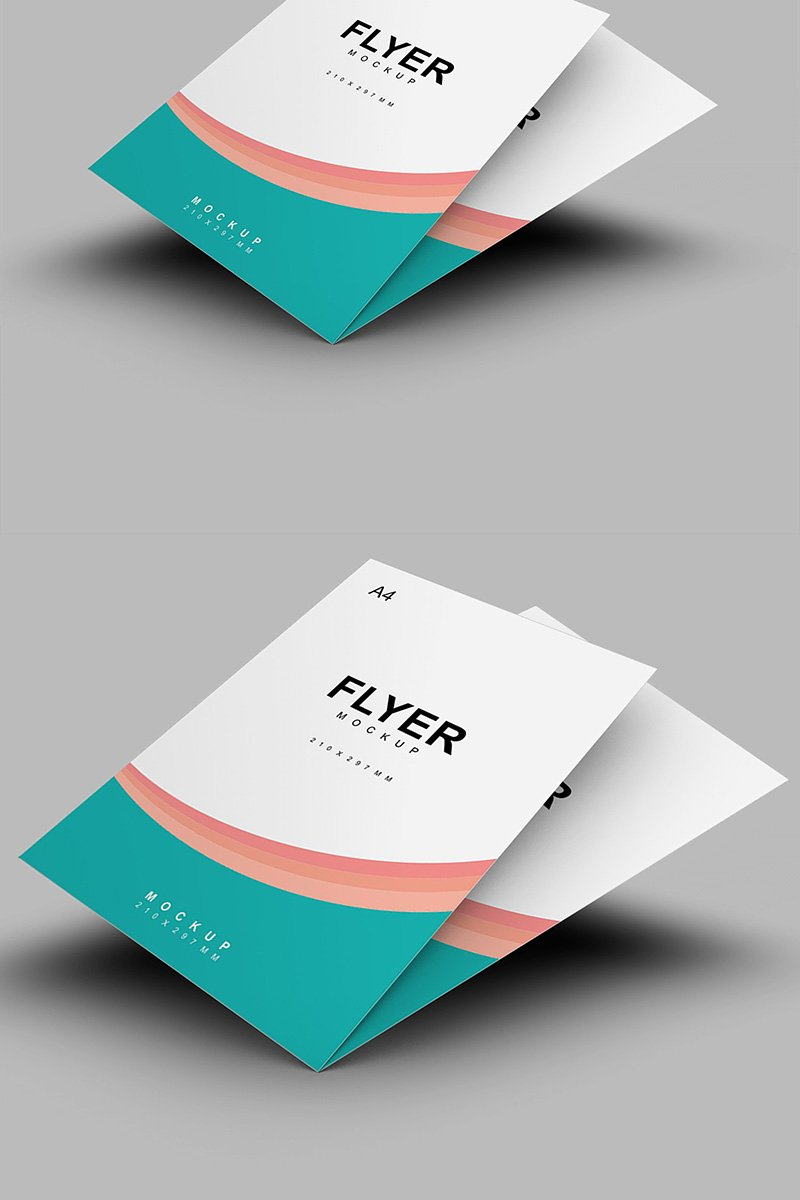 Produktowy mockup Classical A4 Flyer #91248