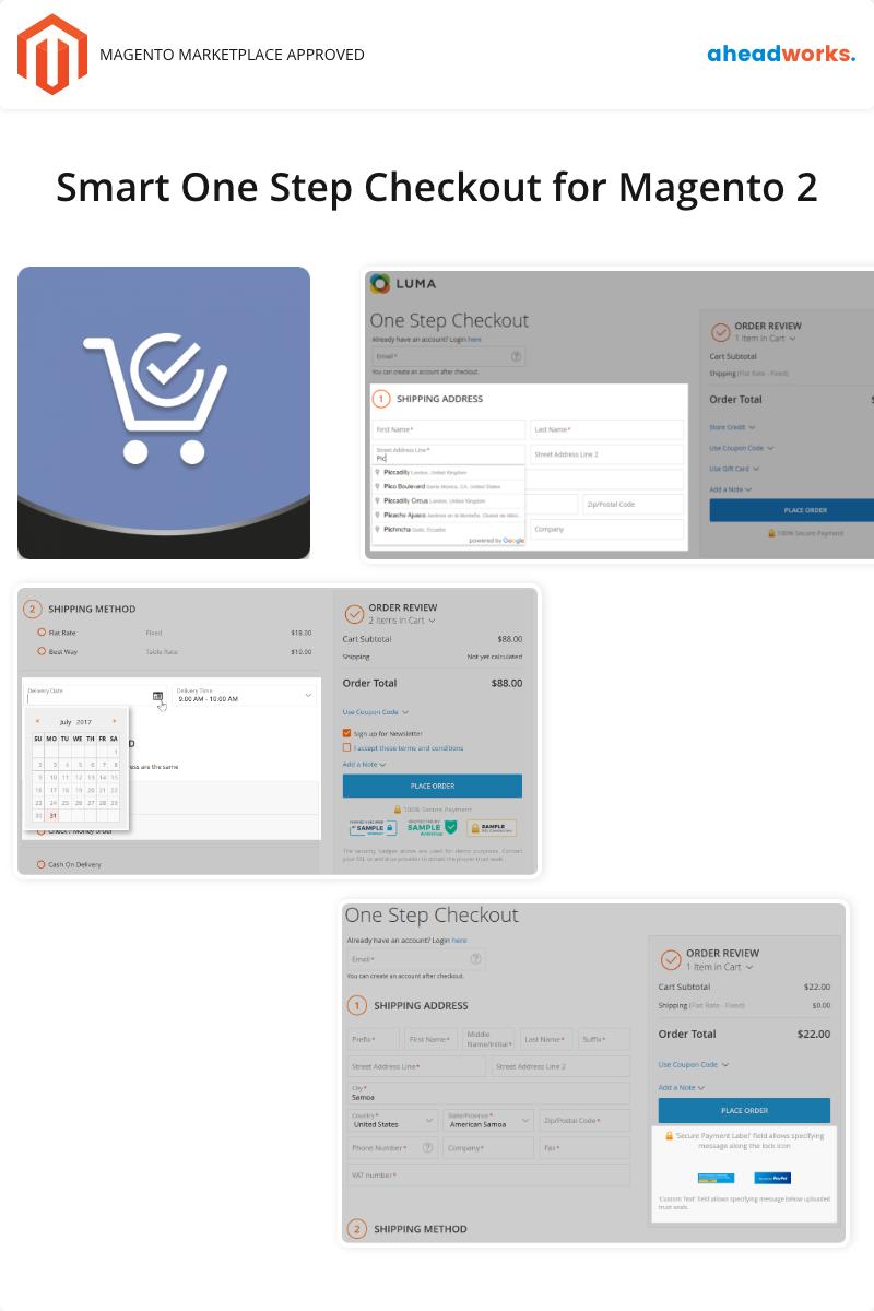 Smart One Step Checkout for Magento 2 №91274 - скриншот