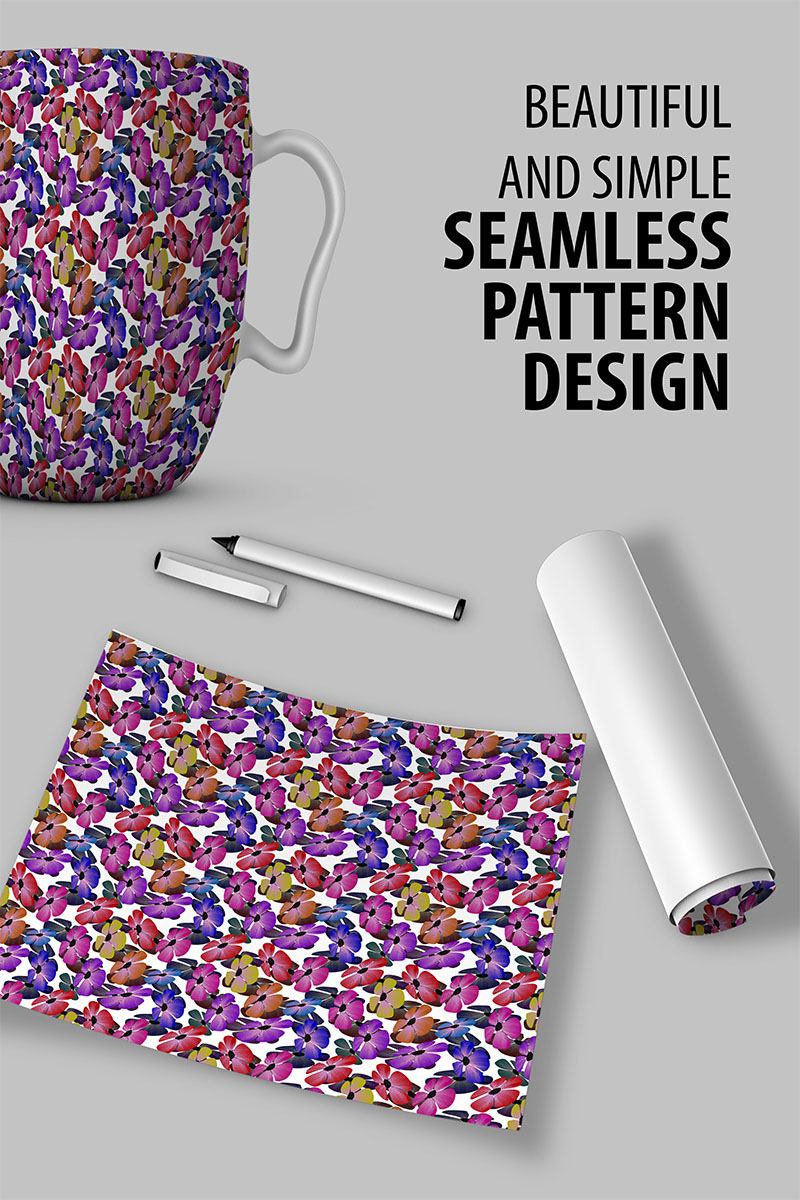 "Tema Pattern #91254 ""Colorful flowery seamless"""