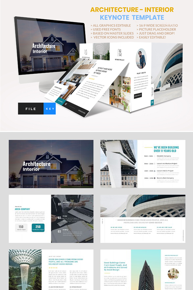 """Architecture - Interior"" modèle Keynote  #91479"
