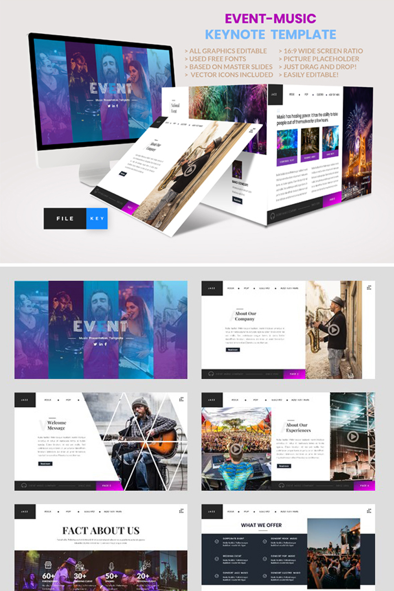 Event - Music Keynote Template #91484