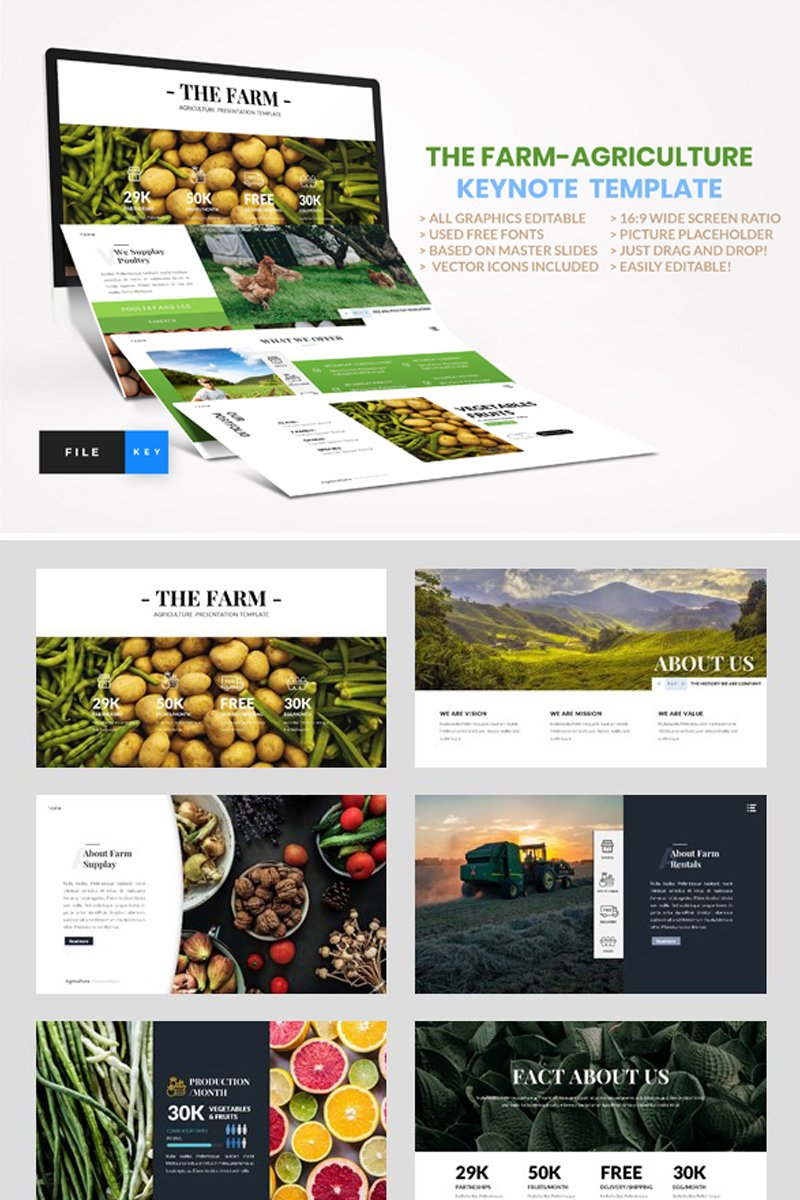 Farm - Agriculture Keynote Template - screenshot