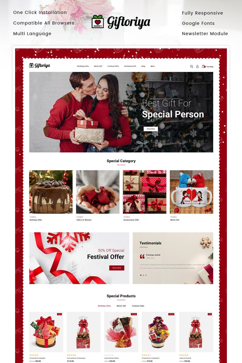 Giftoriya - Gifts Store Template OpenCart №91443