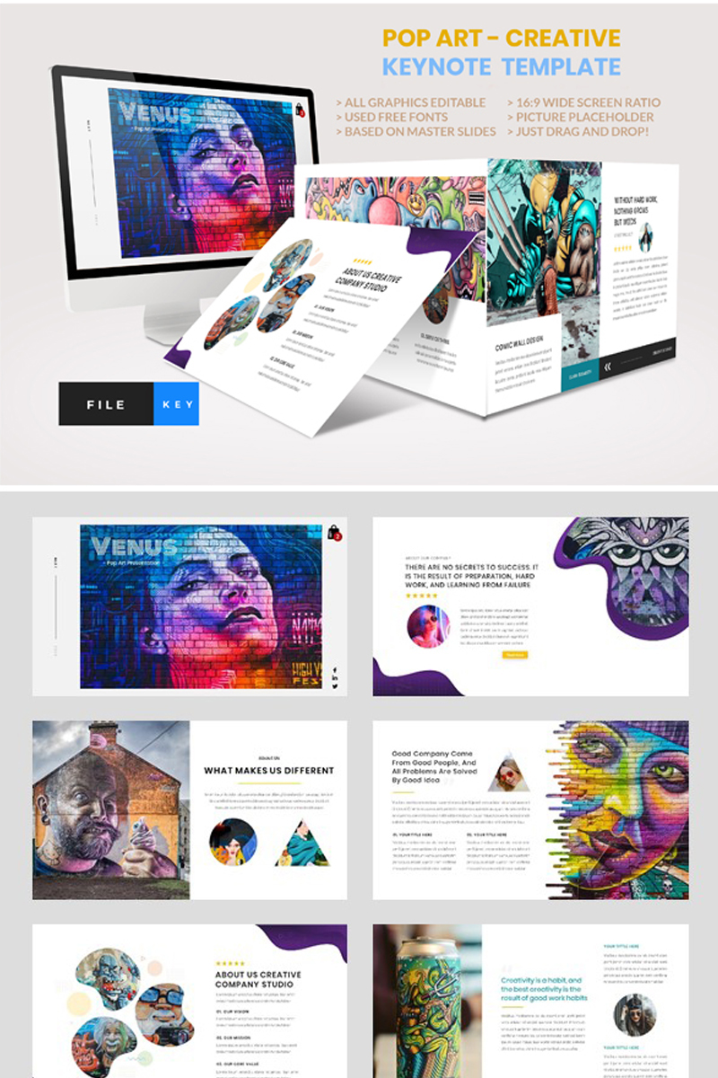 Pop Art - Creative Keynote Template