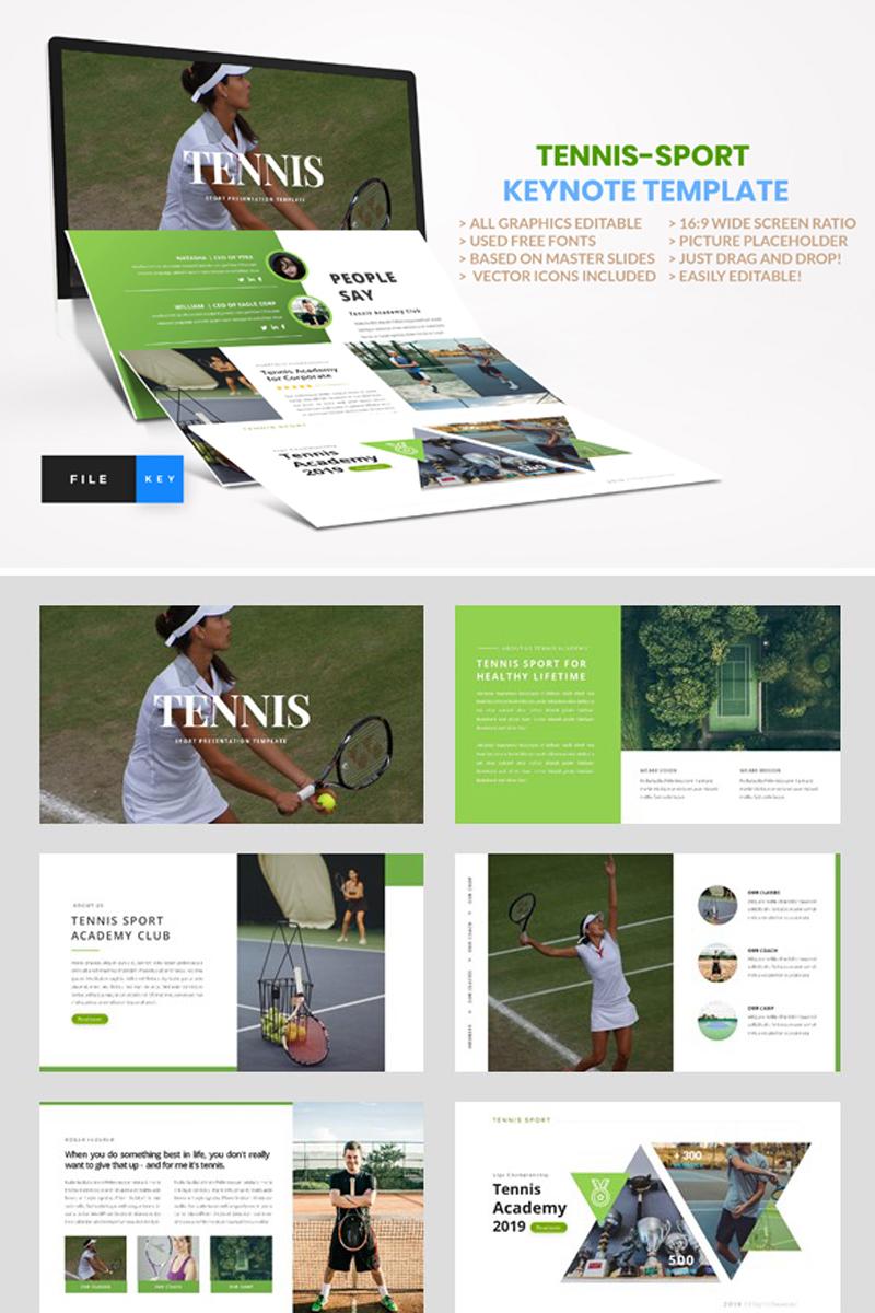 """Šablona pro Keynote """"Tennis - Sport"""" #91573 - screenshot"""
