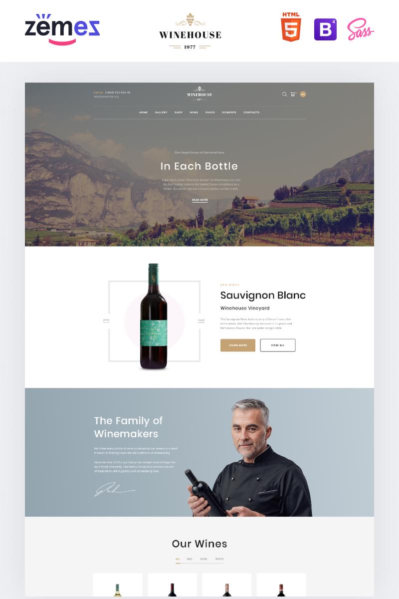 """""""Winehouse - Online Wine Store"""" modèle web adaptatif #91590"""