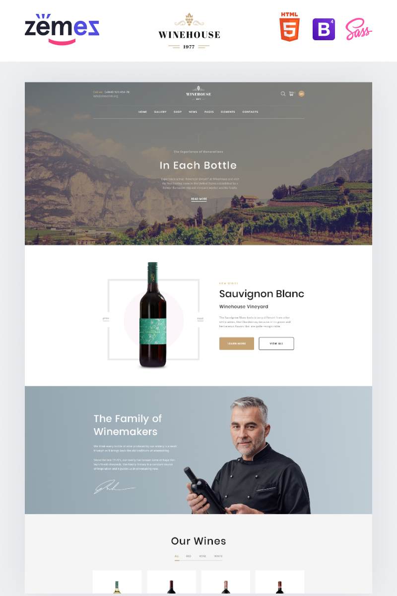 Winehouse - Online Wine Store Website Template