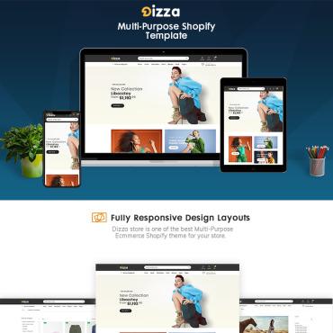 Купить  пофессиональные Shopify шаблоны. Купить шаблон #91623 и создать сайт.