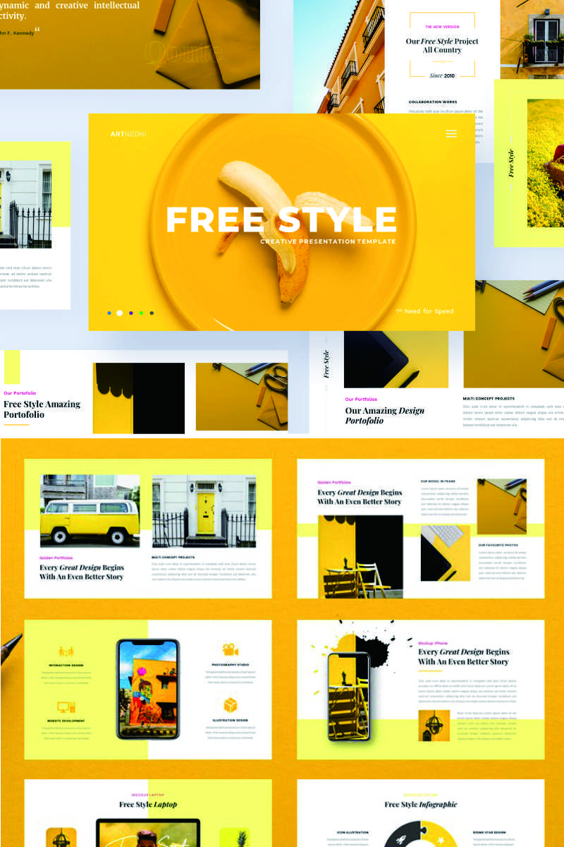 Free Style - Creative Business PowerPoint Template