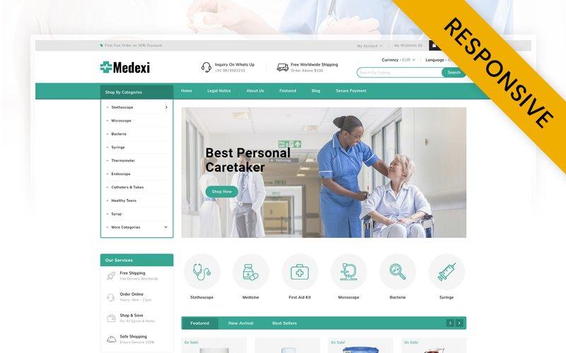 """Medexi - Medical Store PrestaShop Theme"" Responsive PrestaShop Thema №91784"