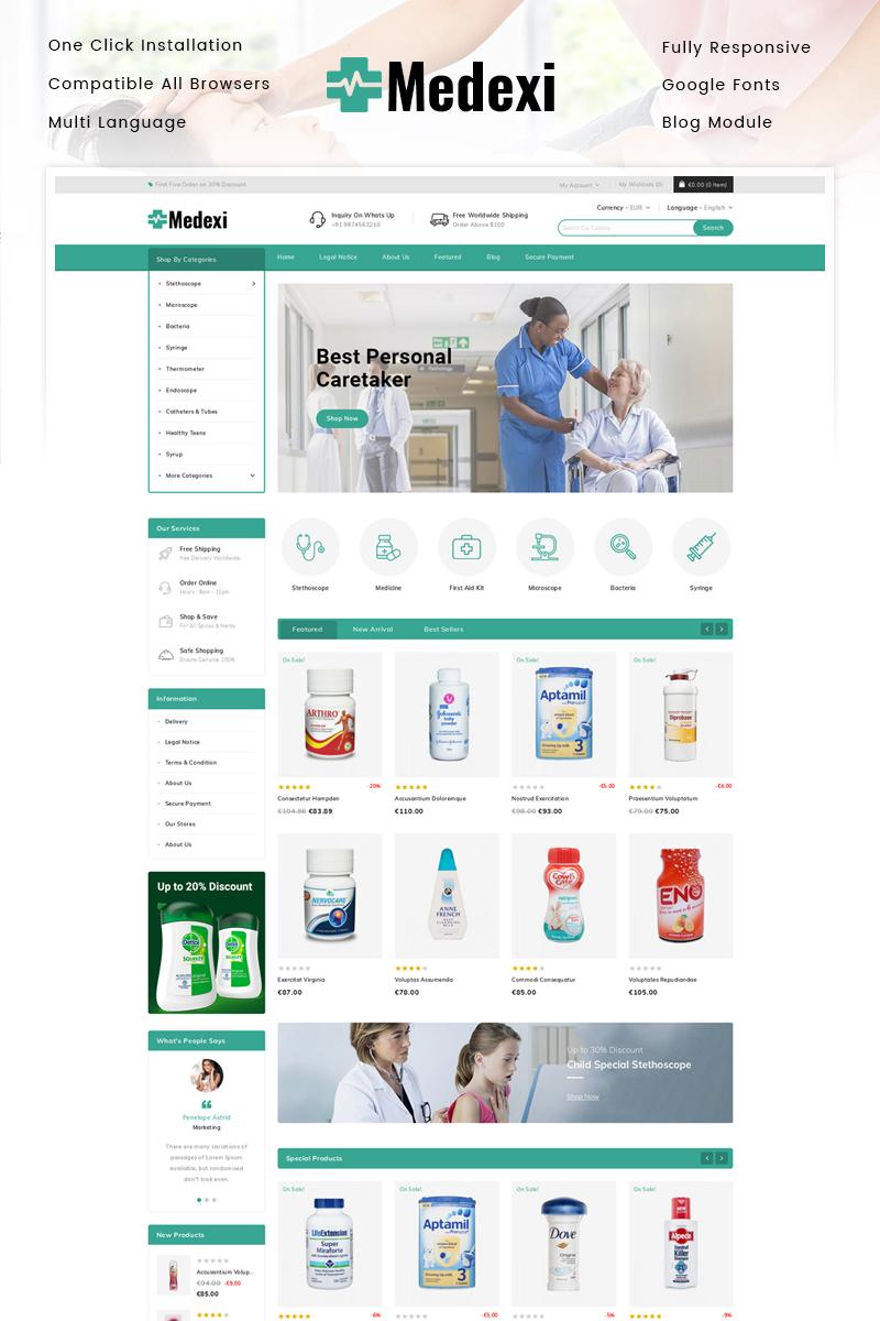 """Medexi - Medical Store"" thème PrestaShop adaptatif #91784"