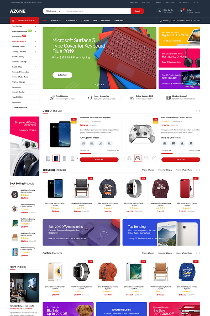 "WooCommerce Theme namens ""Azone - Multi-purposes"" #91788"
