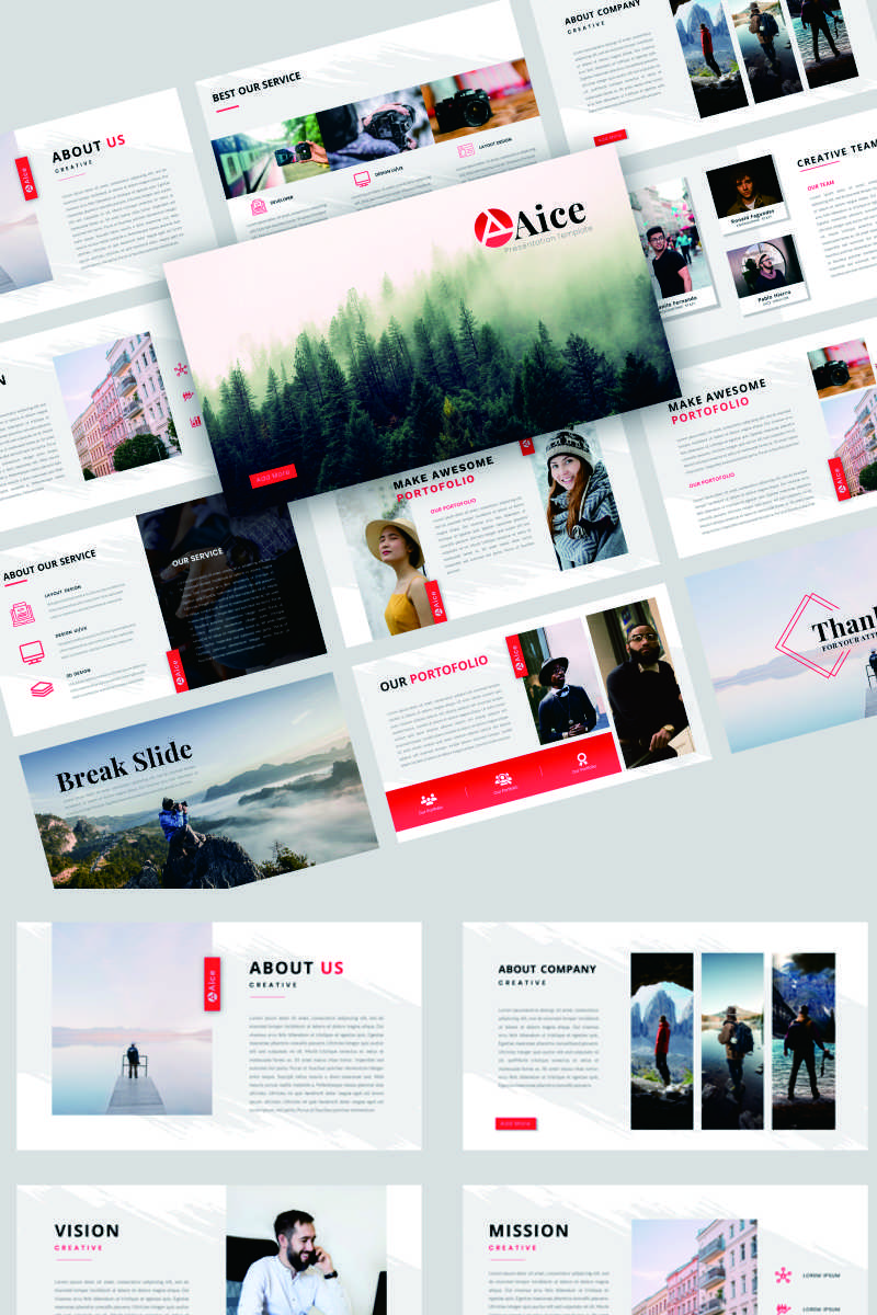 """""""Aice - Creative Business"""" PowerPoint Template №91832"""