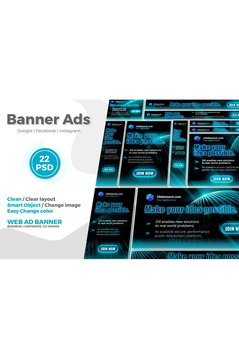 Blockchain Platform Google Ads Web Banner V.2 Social Media