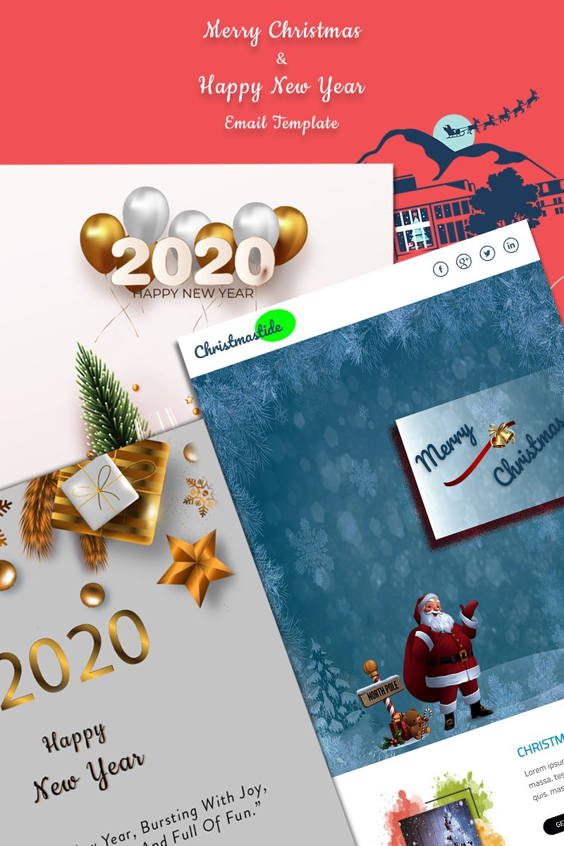 Christmas & New years Template de Newsletter №91808