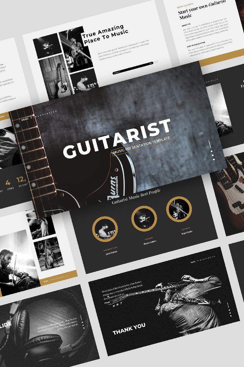 """Guitarist – Music"" PowerPoint Template №91833"
