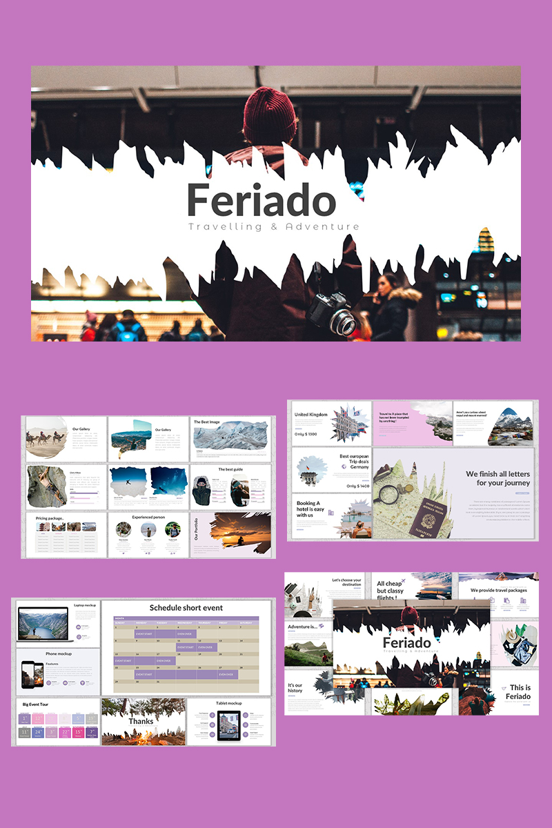 """PowerPoint Vorlage namens """"Feriado"""" #91834"""