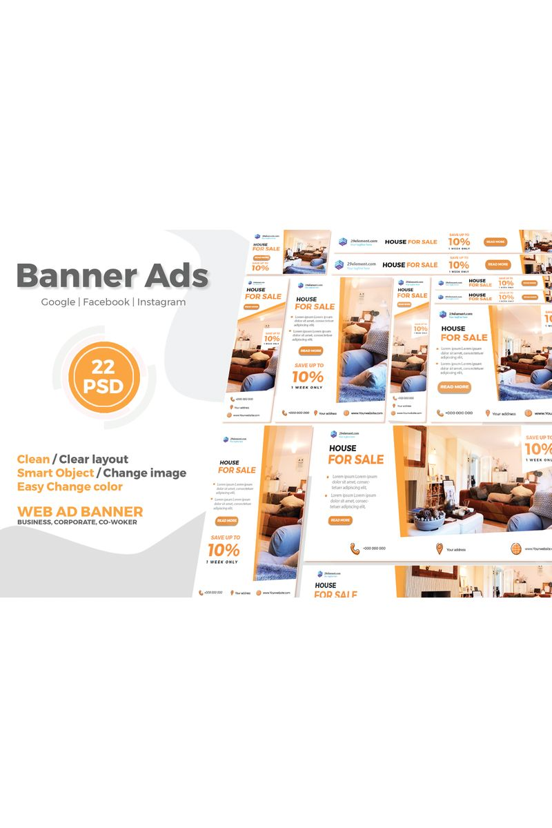 Real Estate Google Ads Web Banner V.1 Social Media