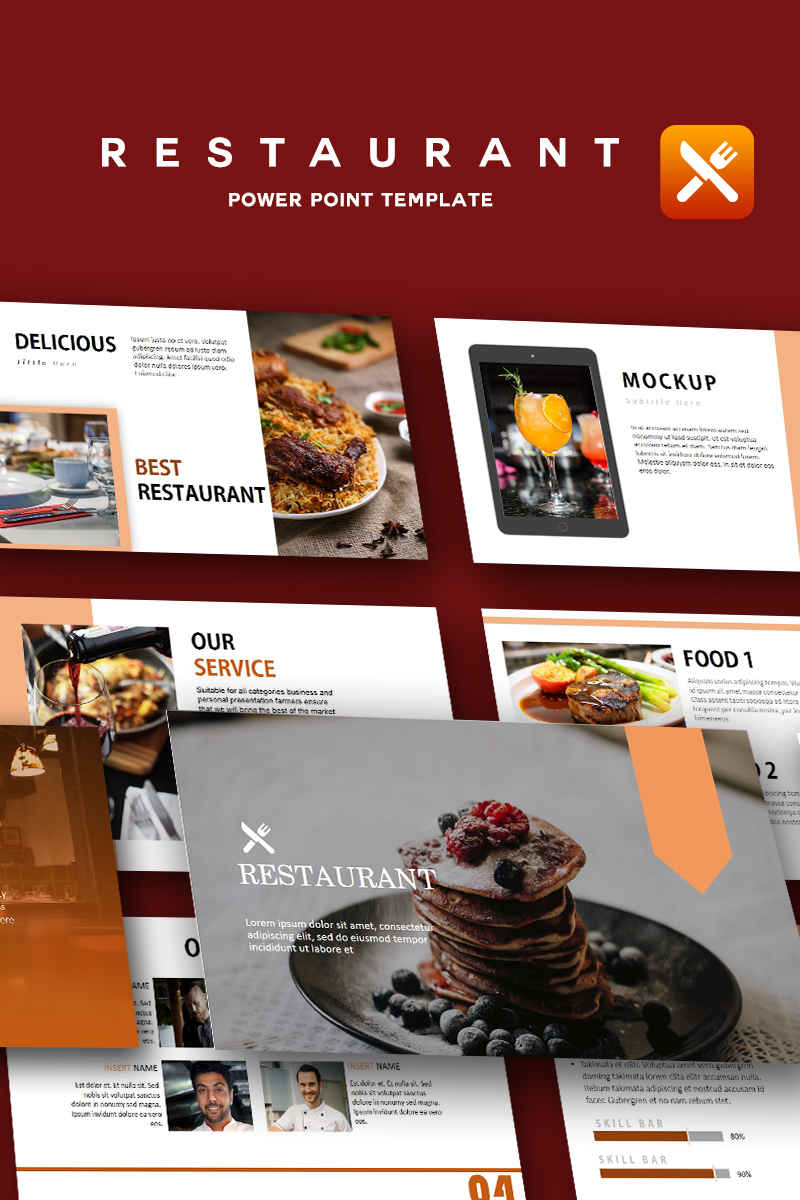 """Restaurant - Creative"" - PowerPoint шаблон №91849"