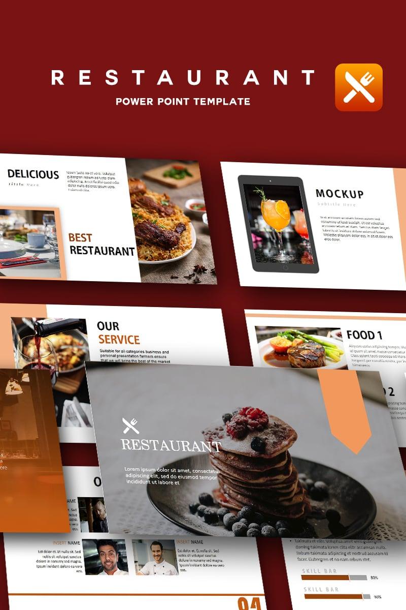 Szablon PowerPoint Restaurant - Creative #91849