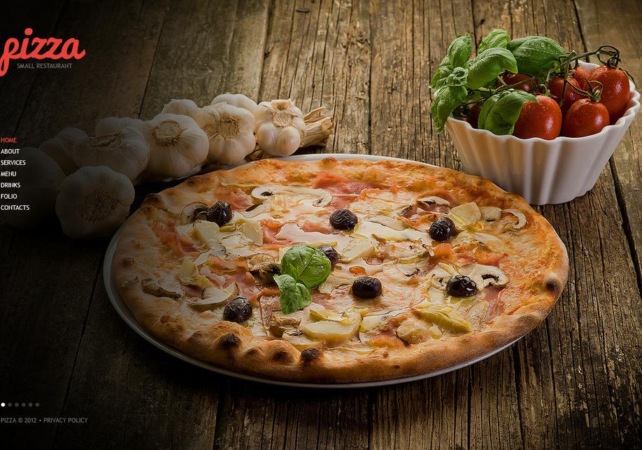 Plantilla Web HTML Pizza | MotoCMS