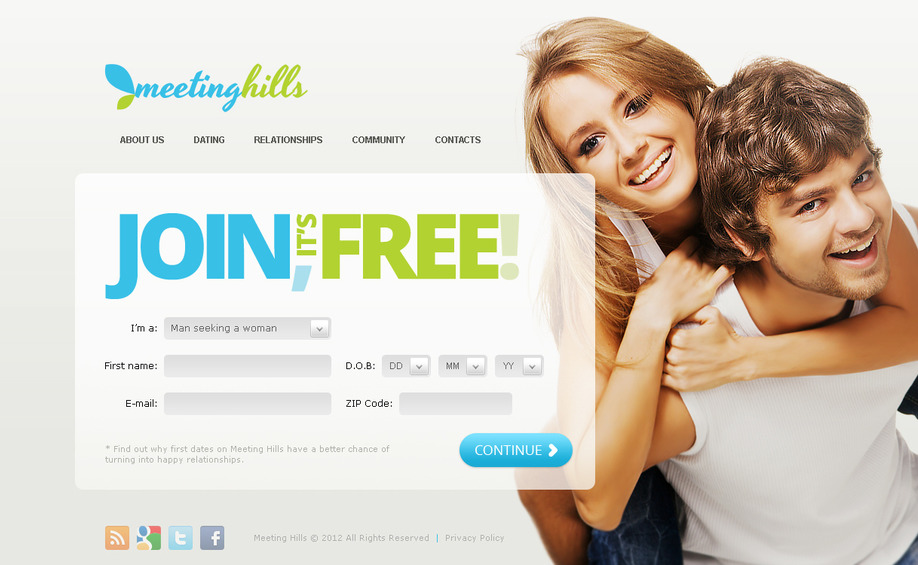 dating web page template
