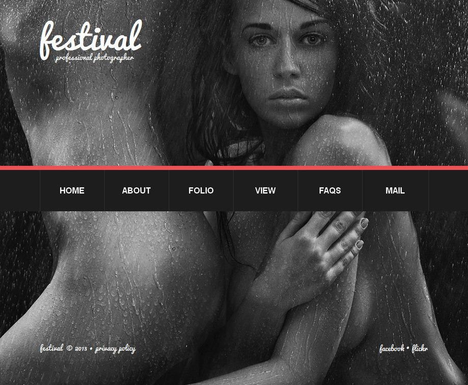 Photo Portfolio Website Template With a Slideshow Background