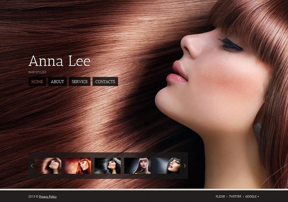 Hair Stylist Personal Portfolio Website Template