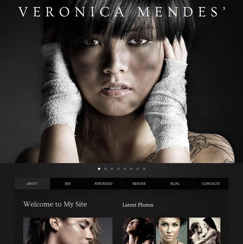 Black Modeling Portfolio Website Template