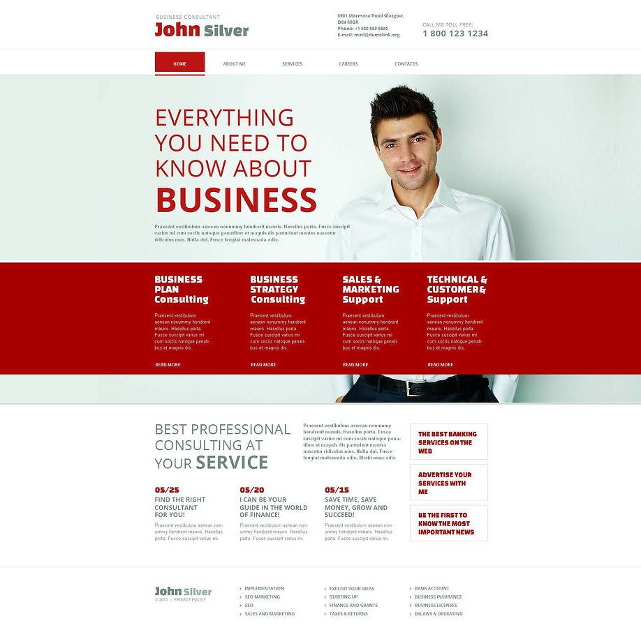Red and white website template for a business consultant motocms red and white website template for a business consultant image cheaphphosting Gallery
